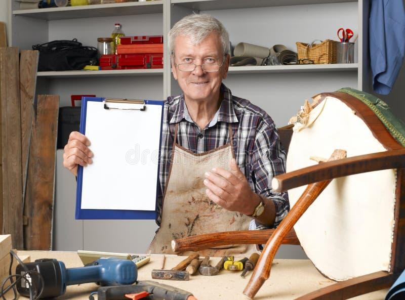 Ξαναδοκιμασμένος ξυλουργός στοκ εικόνες με δικαίωμα ελεύθερης χρήσης