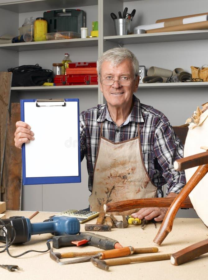 Ξαναδοκιμασμένος ξυλουργός στοκ εικόνες