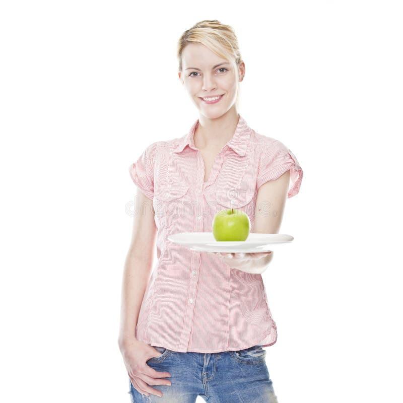 ξανθές πράσινες υγιείς ν&epsilon στοκ φωτογραφίες