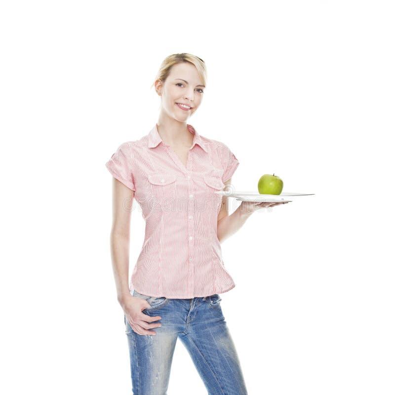 ξανθές πράσινες υγιείς ν&epsilon στοκ εικόνες με δικαίωμα ελεύθερης χρήσης