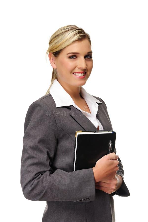 Ξανθή επιχειρησιακή γυναίκα στοκ φωτογραφία
