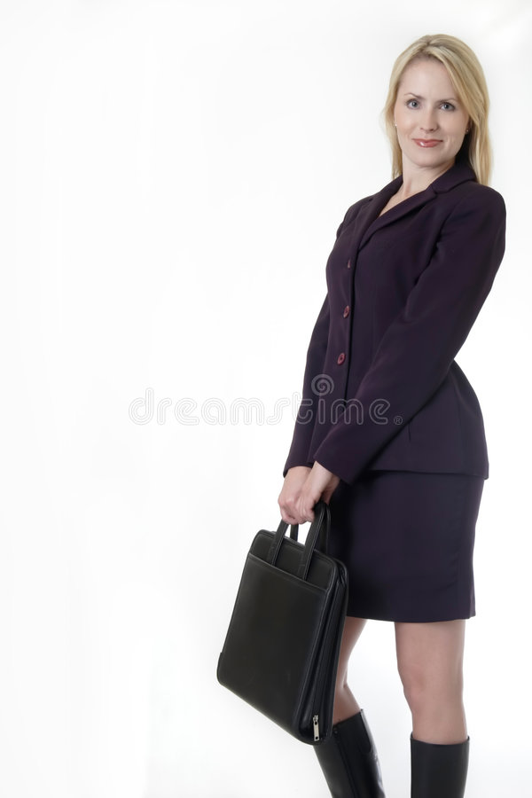 ξανθή επιχειρησιακή επιτυχής γυναίκα στοκ εικόνα