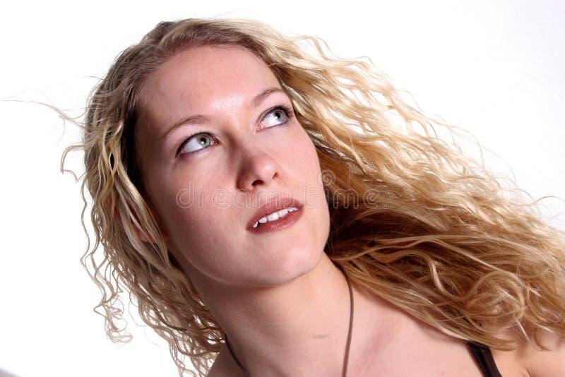 ξανθή λευκή γυναίκα στοκ εικόνα με δικαίωμα ελεύθερης χρήσης