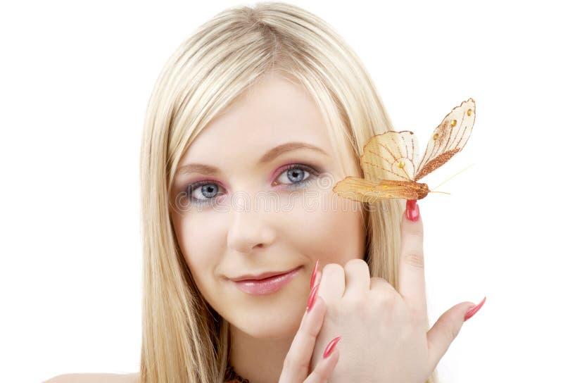 ξανθή πεταλούδα στοκ εικόνες
