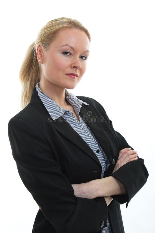 ξανθός καυκάσιος όμορφος επιχειρηματιών στοκ φωτογραφίες με δικαίωμα ελεύθερης χρήσης