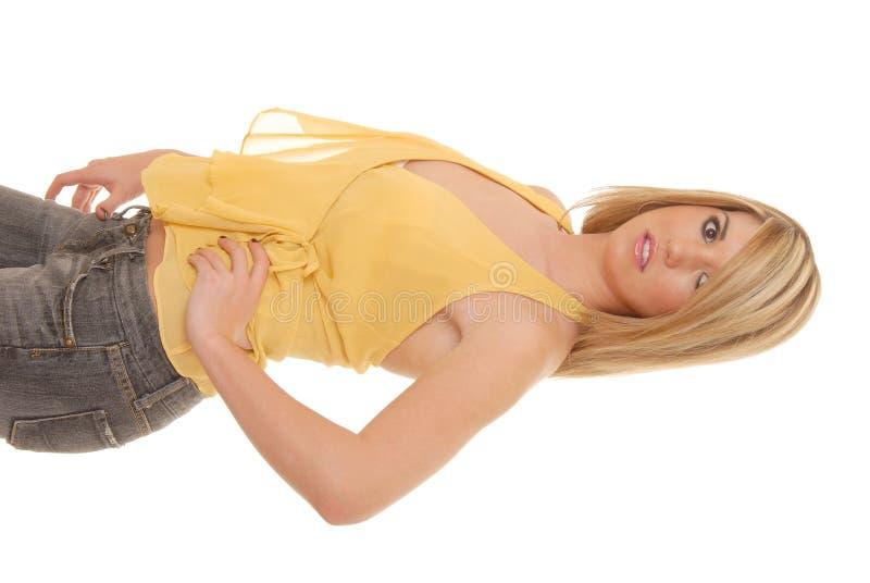 ξανθό κορίτσι 33 καλό στοκ φωτογραφία με δικαίωμα ελεύθερης χρήσης