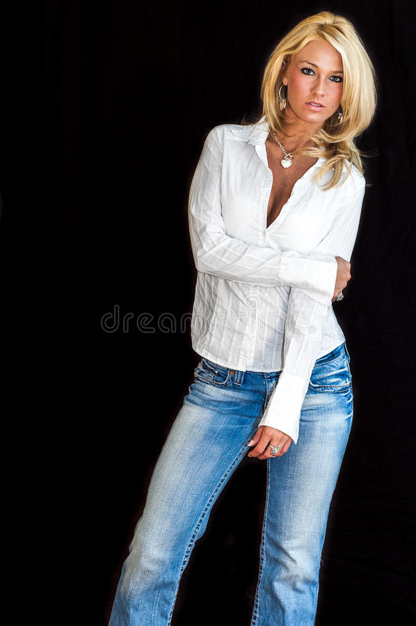ξανθό μοντέλο μόδας στοκ εικόνες