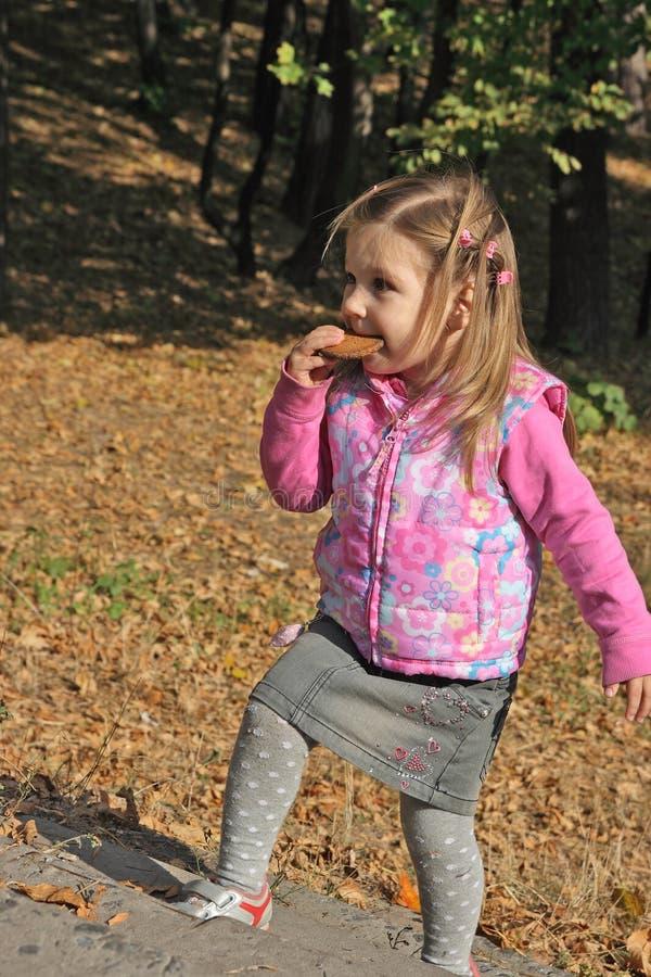 Download ξανθό τρώγοντας κορίτσι μπ&iota Στοκ Εικόνα - εικόνα από childhood, σημαδιών: 13175281