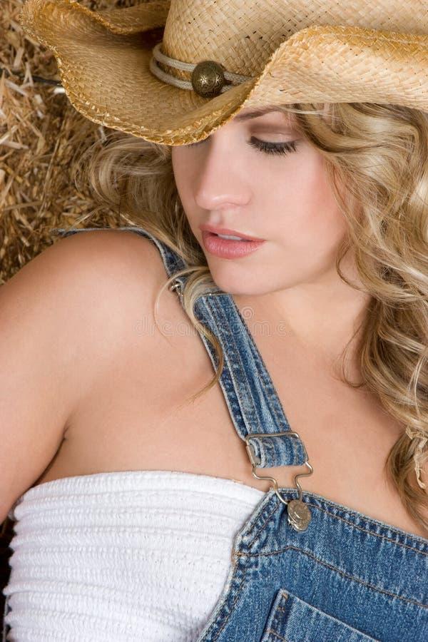 ξανθό cowgirl στοκ φωτογραφίες με δικαίωμα ελεύθερης χρήσης