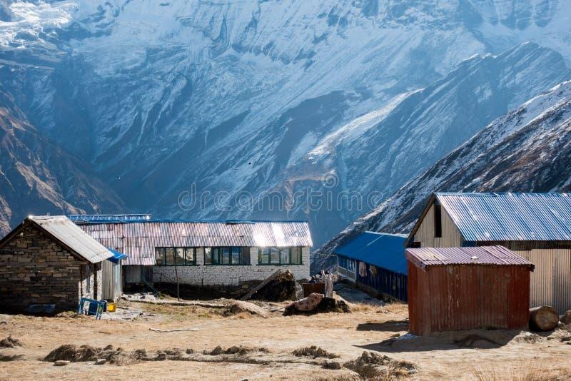 Ξενοδοχεία στα βουνά Himalayan στοκ εικόνες