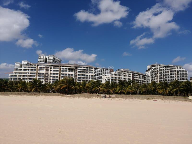 Ξενοδοχεία στην παραλία της Σάνια στοκ εικόνες