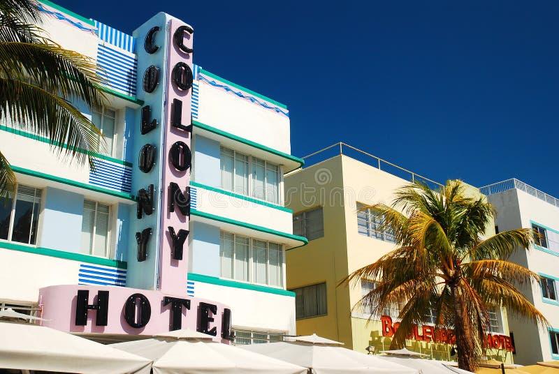 Ξενοδοχείο αποικιών, νότια παραλία, Μαϊάμι στοκ φωτογραφία
