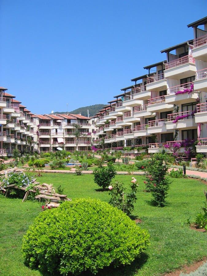 ξενοδοχείο κήπων περιοχή στοκ φωτογραφία