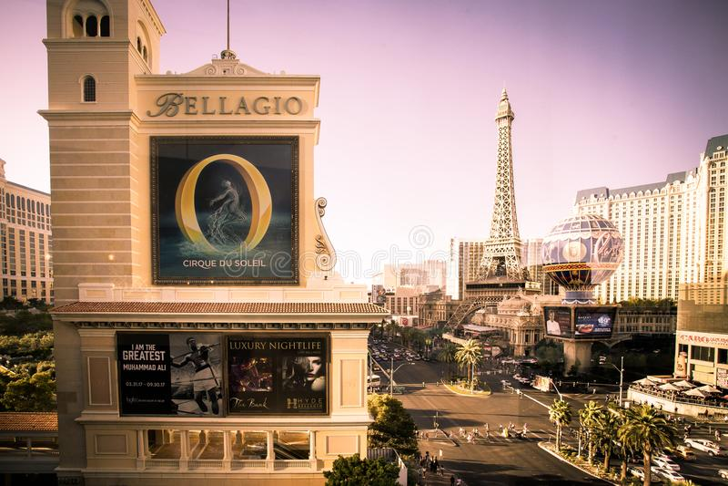 Ξενοδοχείο και χαρτοπαικτική λέσχη του Μπελάτζιο Λας Βέγκας στοκ εικόνες
