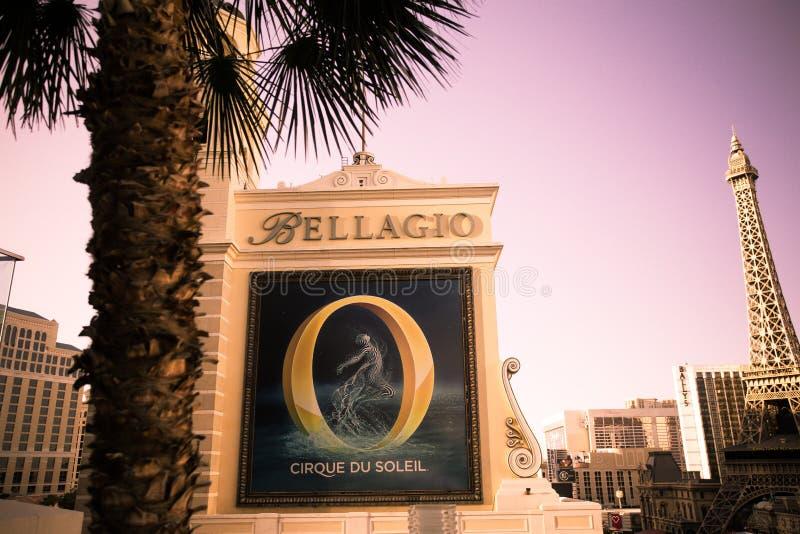 Ξενοδοχείο και χαρτοπαικτική λέσχη του Μπελάτζιο Λας Βέγκας στοκ εικόνες με δικαίωμα ελεύθερης χρήσης