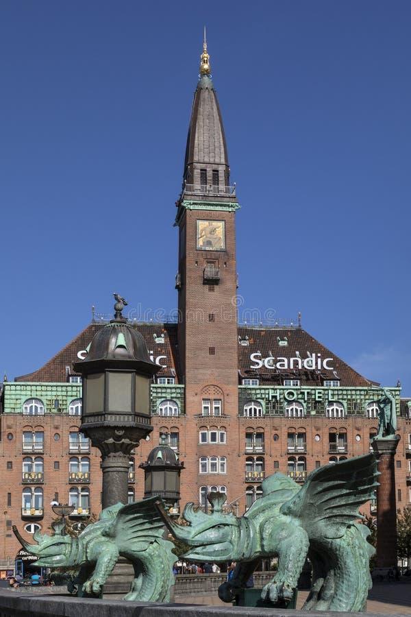 Ξενοδοχείο παλατιών στην πλατεία του Δημαρχείου - Κοπεγχάγη - Δανία στοκ φωτογραφίες