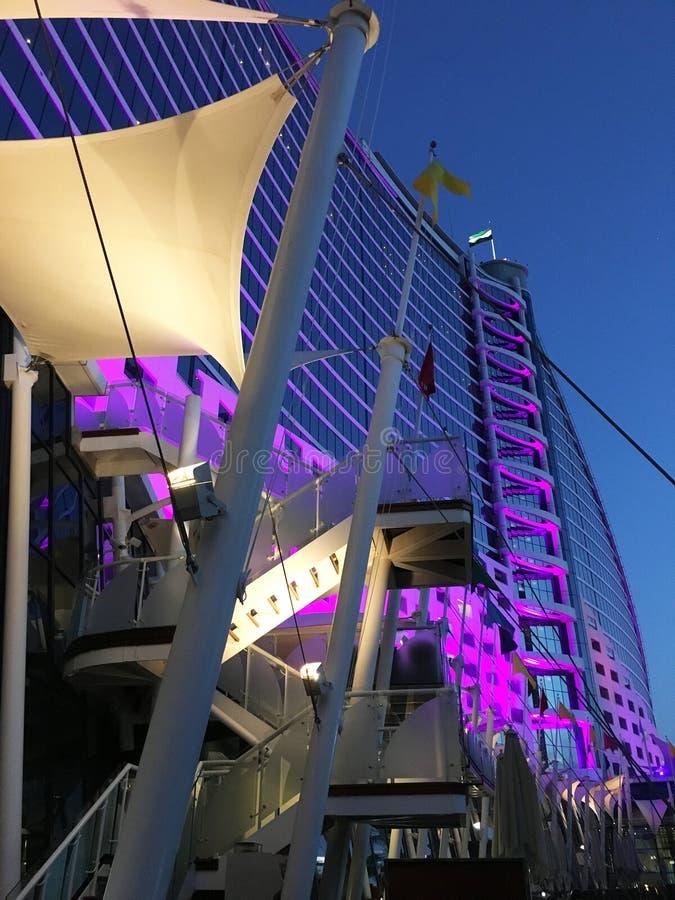 Ξενοδοχείο παραλιών Jumeirah, στο Ντουμπάι, Ηνωμένα Αραβικά Εμιράτα στοκ εικόνα