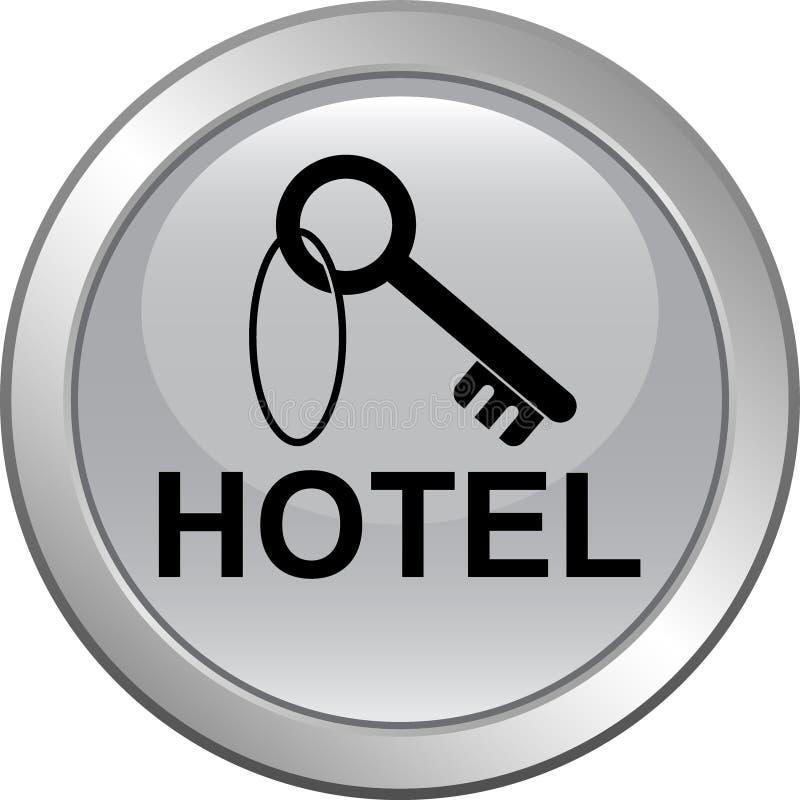 Ξενοδοχείο που κρατά το βασικό κουμπί Ιστού εικονιδίων ελεύθερη απεικόνιση δικαιώματος