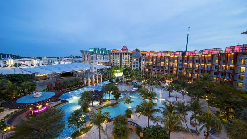 Ξενοδοχείο Σιγκαπούρη σκληρής ροκ στο νησί Sentosa στοκ εικόνες