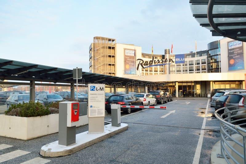 Ξενοδοχείο Blu Radisson στον αερολιμένα του Αμβούργο στοκ εικόνα με δικαίωμα ελεύθερης χρήσης