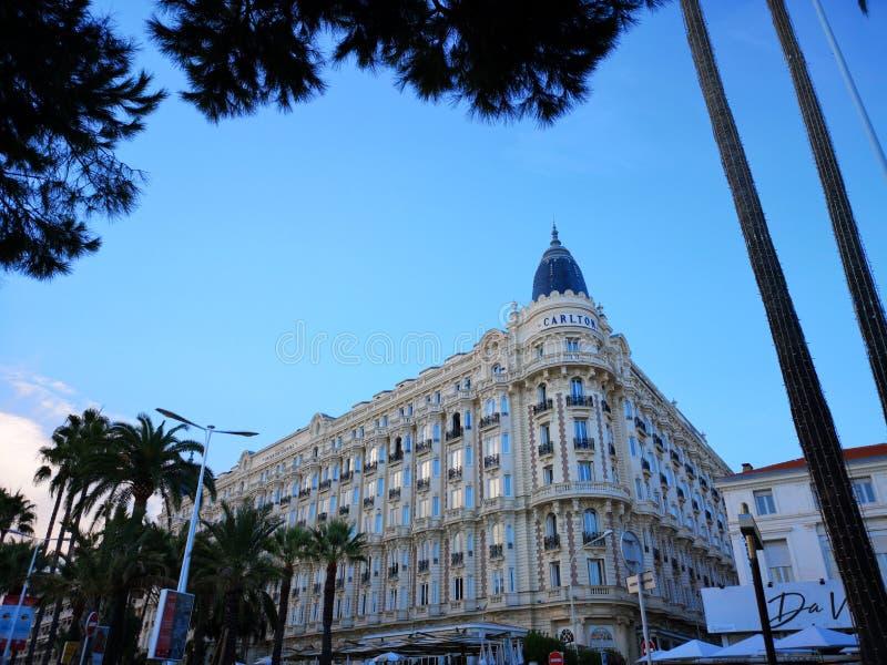 Ξενοδοχείο Carlton διηπειρωτικός στις Κάννες, Γαλλία στοκ φωτογραφία