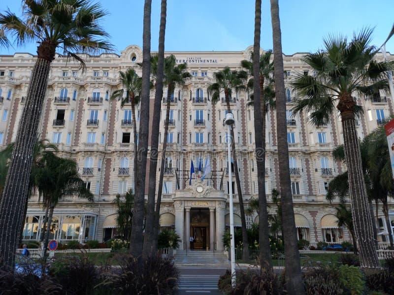 Ξενοδοχείο Carlton διηπειρωτικός στις Κάννες, Γαλλία στοκ φωτογραφίες