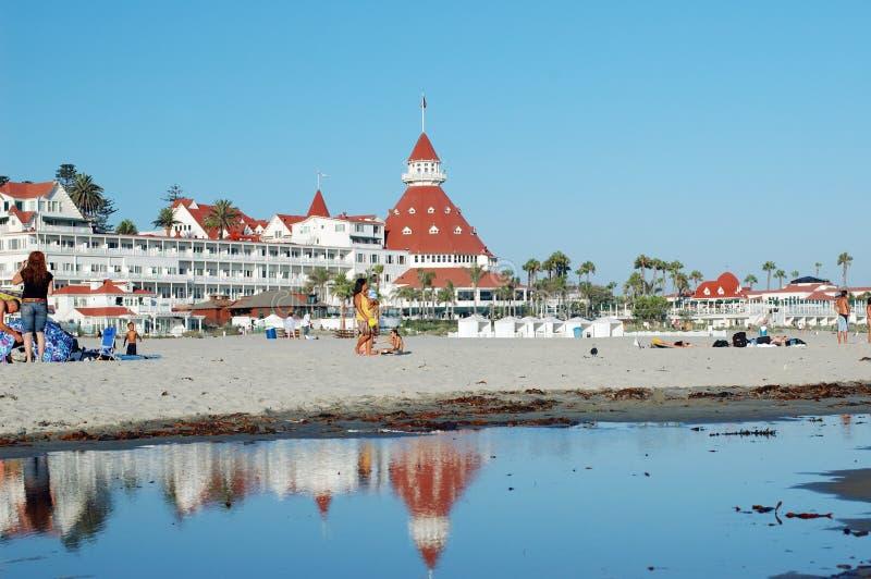 ξενοδοχείο coronado παραλιών στοκ εικόνες