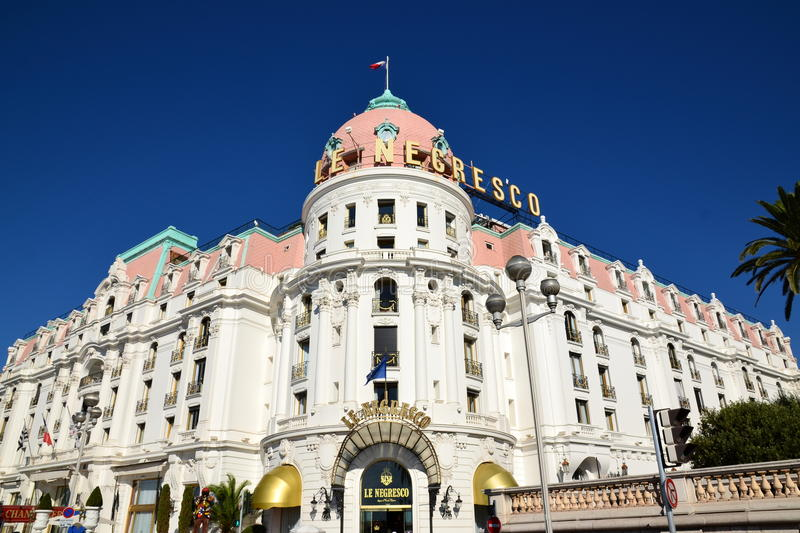 Ξενοδοχείο Negresco, πόλη της Νίκαιας, γαλλικό riviera στοκ φωτογραφία