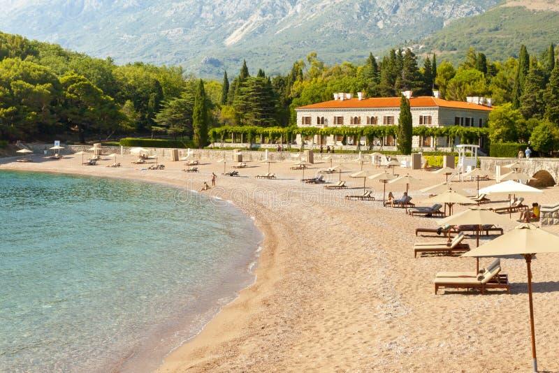 Ξενοδοχείο, Sveti Stefan - Μαυροβούνιο στοκ εικόνα