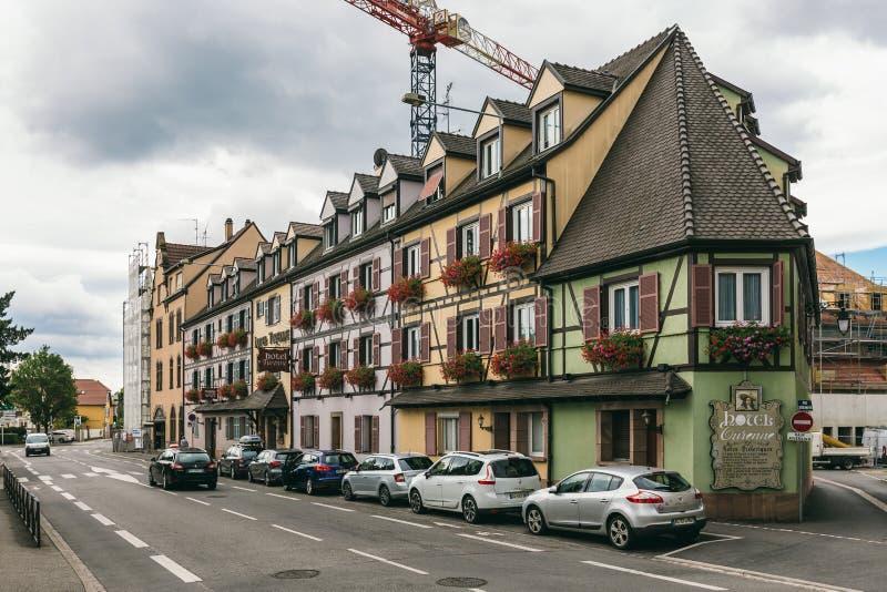 Ξενοδοχείο Turenne στο vilage Colmar στοκ φωτογραφία