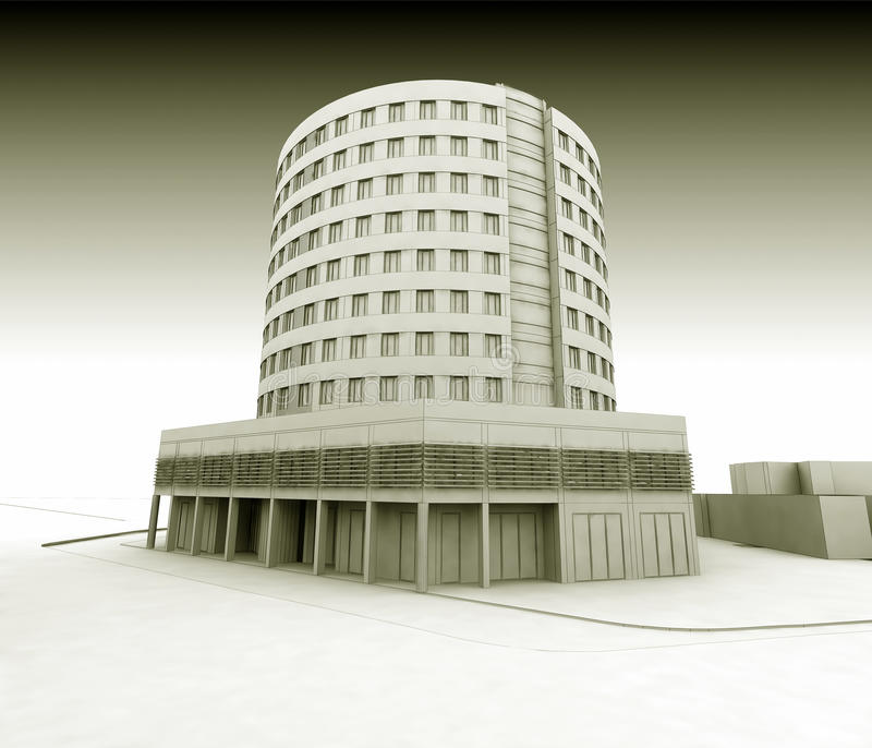 ξενοδοχείο wireframe διανυσματική απεικόνιση