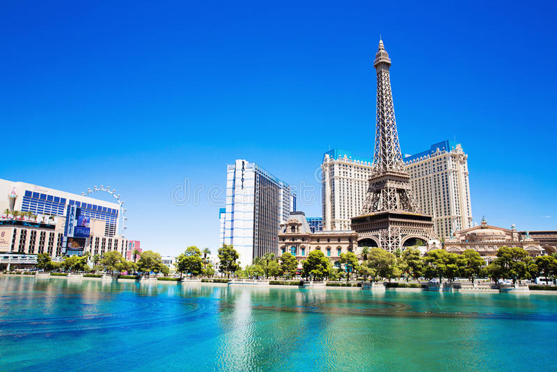 Ξενοδοχείο Παρίσι στο Λας Βέγκας στοκ εικόνες