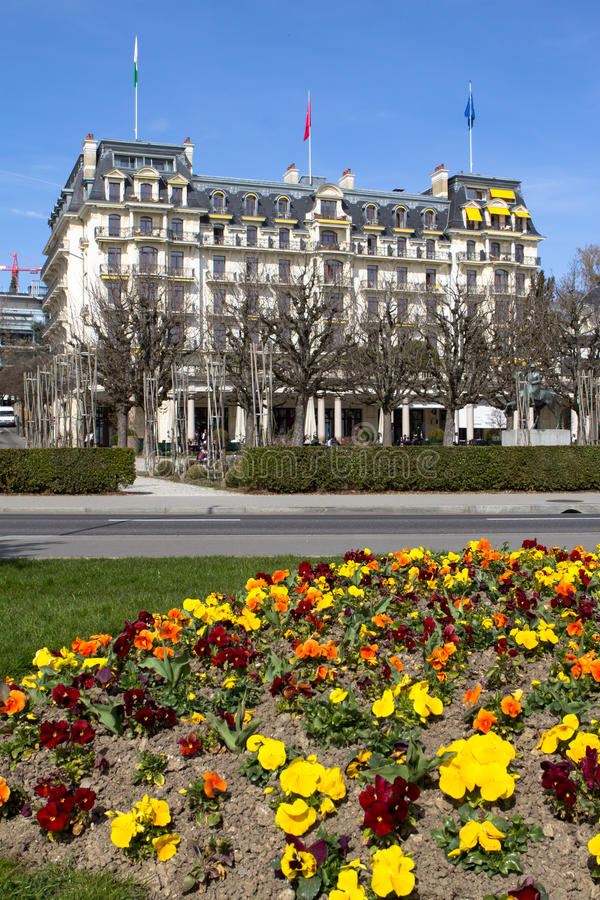 Ξενοδοχείο πολυτελείας, Λωζάνη στοκ εικόνες