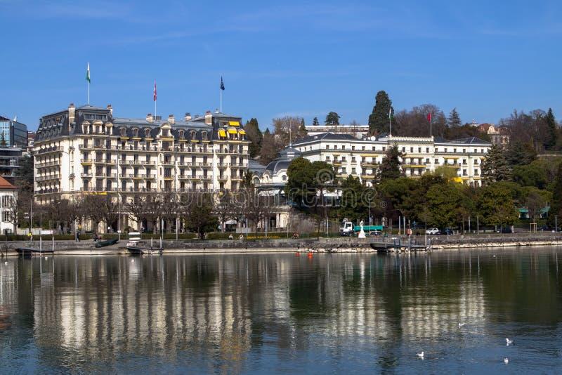 Ξενοδοχείο πολυτελείας, Λωζάνη στοκ εικόνα