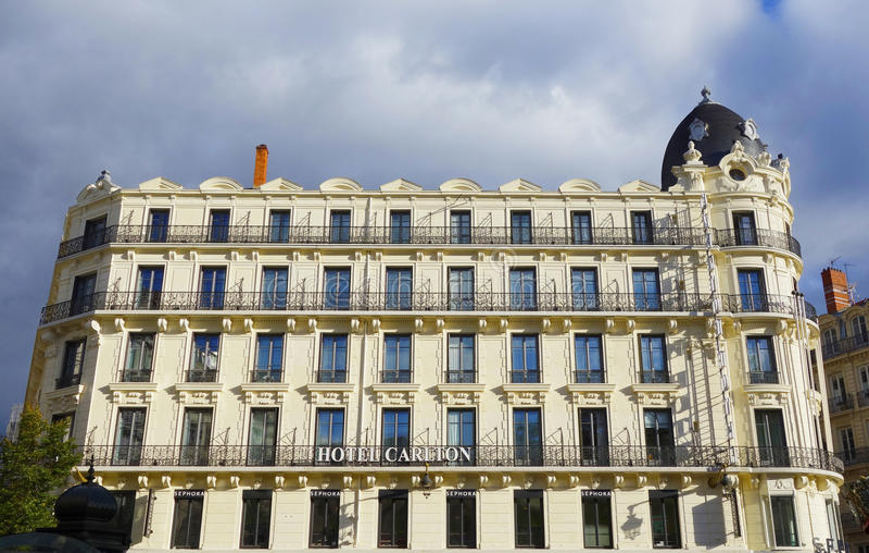 Ξενοδοχείο Carlton στη Λυών, Γαλλία στοκ φωτογραφία με δικαίωμα ελεύθερης χρήσης