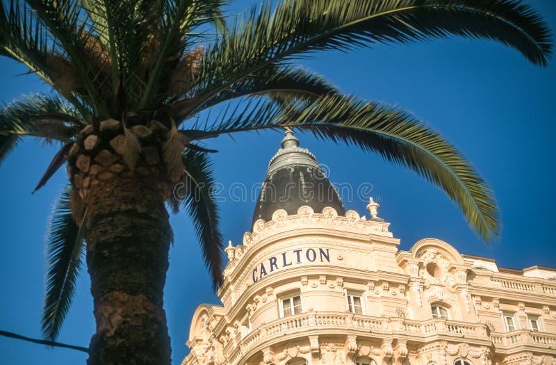 Ξενοδοχείο Carlton στις Κάννες στοκ φωτογραφία με δικαίωμα ελεύθερης χρήσης