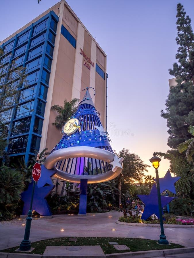 Ξενοδοχείο Disneyland της Disney στοκ εικόνες