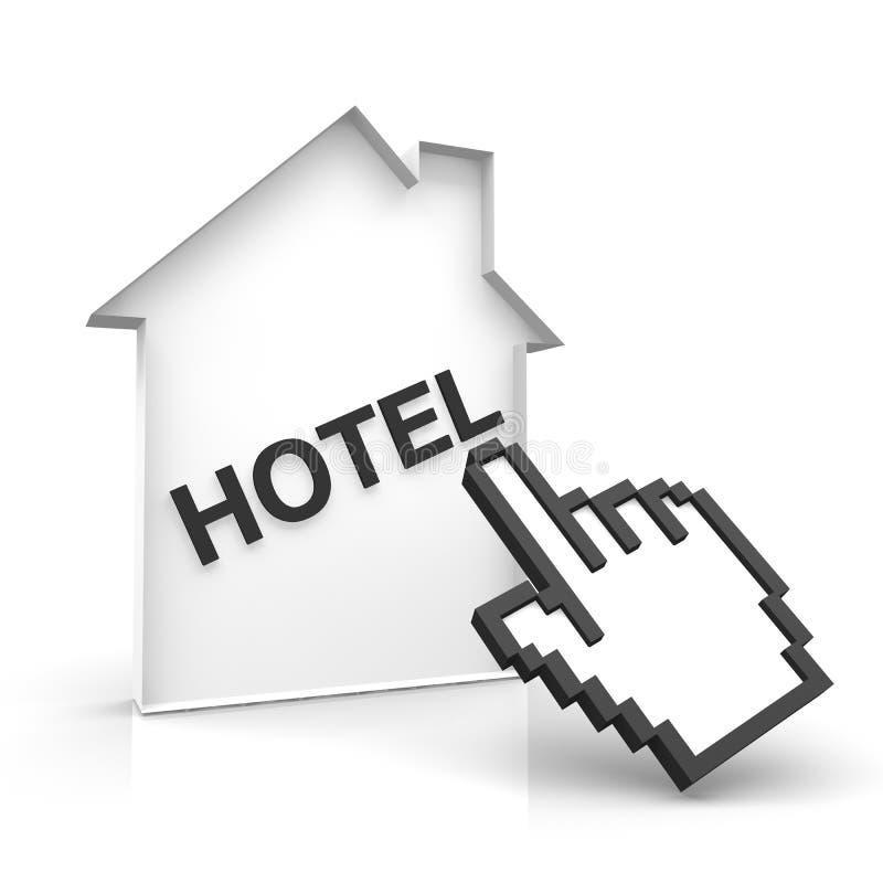 Ξενοδοχείο on-line διανυσματική απεικόνιση