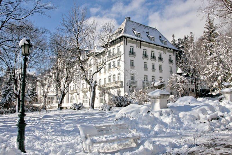 Ξενοδοχείο Palas, Sinaia, Ρουμανία στοκ φωτογραφία