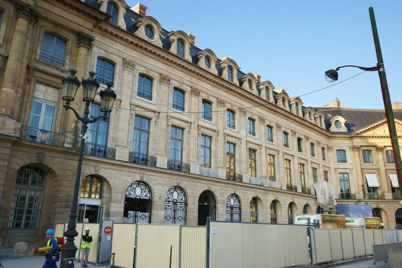 Ξενοδοχείο Ritz Παρίσι κάτω από την κατασκευή Εκδοτική Στοκ Εικόνα