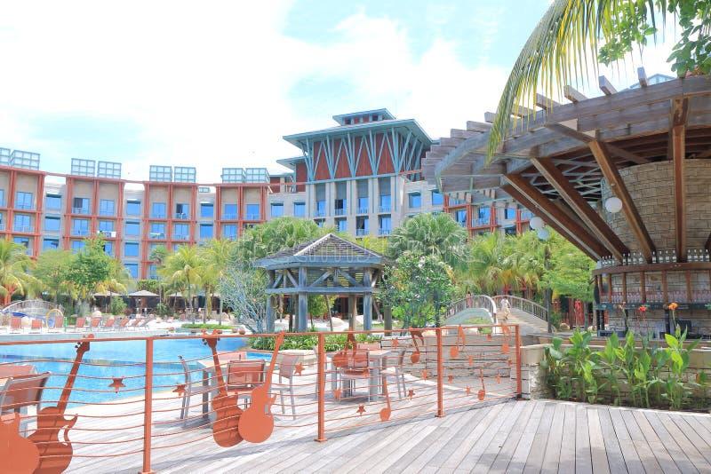 Ξενοδοχείο Sentosa Σιγκαπούρη σκληρής ροκ στοκ εικόνες με δικαίωμα ελεύθερης χρήσης