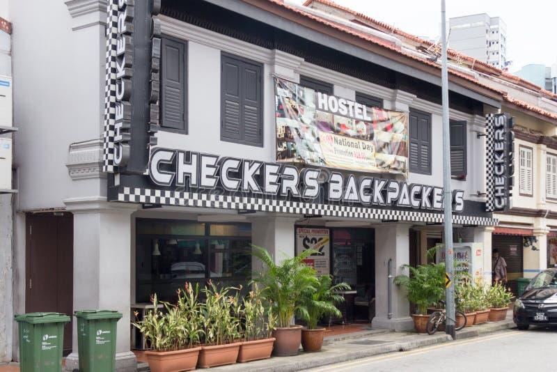 Ξενώνας Backpackers ελεγκτών, πάροδος Campbell, λίγη Ινδία, Σιγκαπούρη στοκ φωτογραφίες