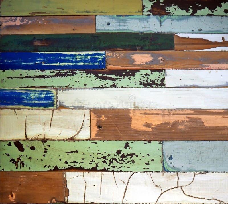 Ξεπερασμένες και φορεμένες χρωματισμένες τρύγος ξύλινες επιτροπές Περίληψη, υπόβαθρο στοκ φωτογραφίες