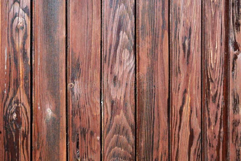 Ξεπερασμένη deep-brown χρωματισμένη ξύλινη σύσταση πινάκων στοκ φωτογραφία με δικαίωμα ελεύθερης χρήσης