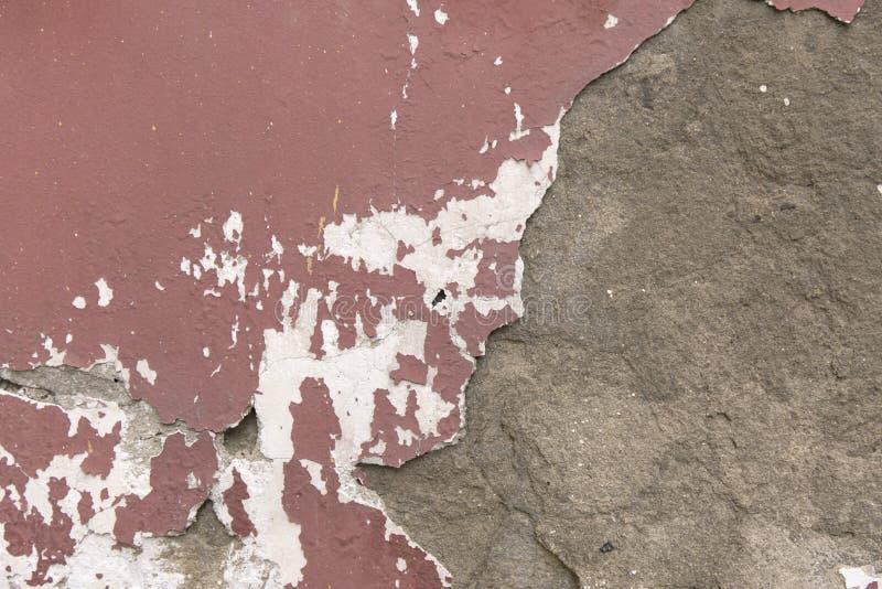 Ξεπερασμένη Grunge σύσταση Κλείστε επάνω το παλαιό ασβεστοκονίαμα αποφλοίωσης τοίχων στοκ εικόνα