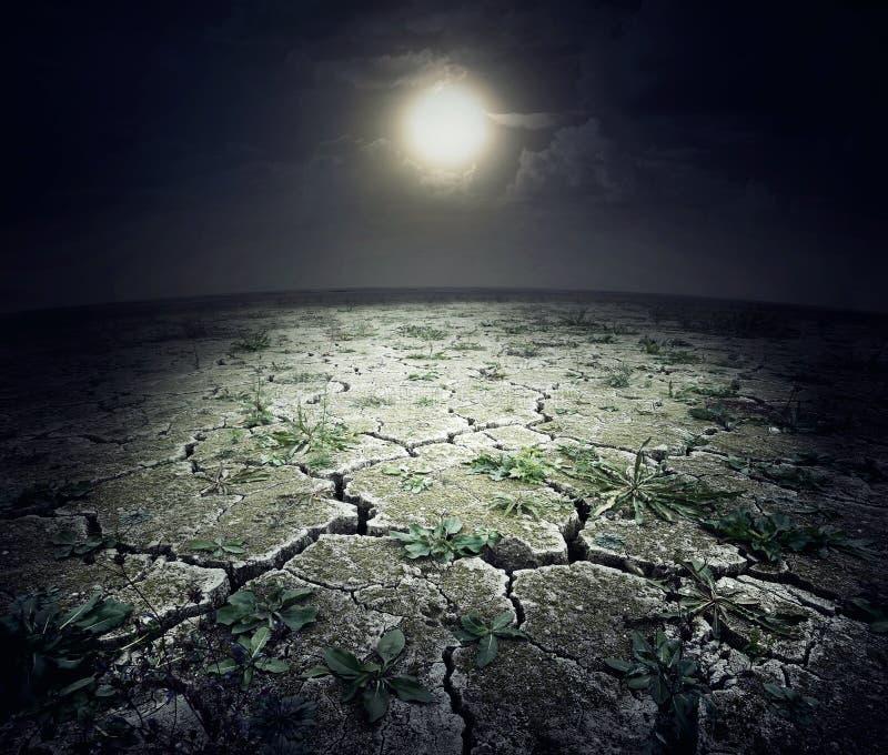 Ξεράνετε τη ραγισμένη επιφάνεια του πλανήτη στοκ φωτογραφία με δικαίωμα ελεύθερης χρήσης