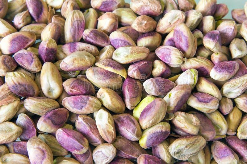 Ξεφλουδισμένο υπόβαθρο καρυδιών φυστικιών στοκ φωτογραφίες με δικαίωμα ελεύθερης χρήσης