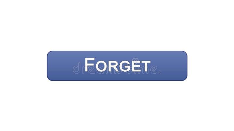 Ξεχάστε το ιώδες χρώμα κουμπιών διεπαφών Ιστού, σχέδιο ιστοσελίδων, σε απευθείας σύνδεση app ελεύθερη απεικόνιση δικαιώματος