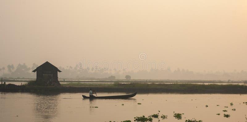 Ξημερώματα που πυροβολούνται από Kadamakudy στοκ φωτογραφίες με δικαίωμα ελεύθερης χρήσης