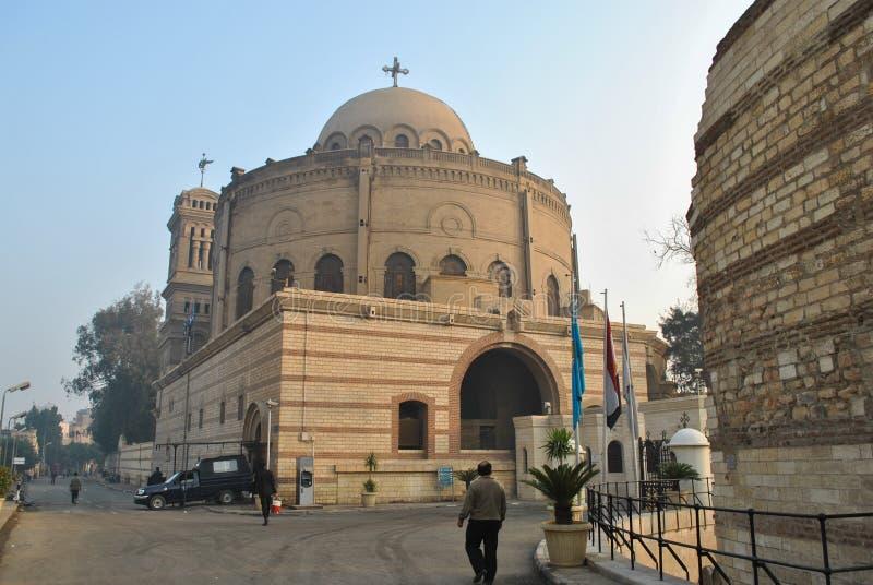 Ξημερώματα στην οδό στην κοπτική περιοχή στο Κάιρο στοκ φωτογραφία